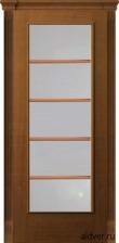 Корсика (анегри) белое стекло с решеткой