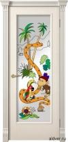 Корсика (слоновая кость эмаль), стекло с художественной аппликацией 38 попугаев от 20 000 руб.