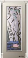 Корсика (слоновая кость эмаль), бевелс-витраж Журавль и лотос от 39 000 руб.