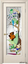 Корсика (слоновая кость эмаль), стекло с художественной аппликацией Винни Пух от 20 000 руб.