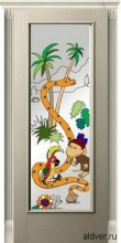 Корсика (белый ясень) со стеклом с художественной аппликацией 38 попугаев от 23 000 руб.