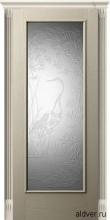 Корсика (белый ясень) стекло с 3d-гравировкой Журавль и Лотос от 24 000 руб.