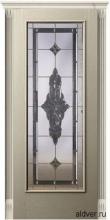Корсика (белый ясень) с бевелс-витражом Черное зеркало от 42 000 руб.