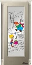 Корсика (белый ясень) со стеклом с художественной аппликацией Малыш и Карлсон от 23 000 руб.