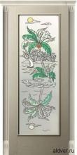 Корсика (белый ясень) со стеклом с художественной аппликацией Остров от 23 000 руб.