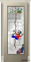 Корсика (белый ясень) со стеклом с художественной аппликацией Ну погоди от 23 000 руб.