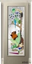 Корсика (белый ясень) со стеклом с художественной аппликацией Винни Пух от 23 000 руб.