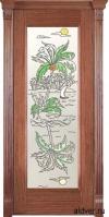 Корсика (черешня натуральная) со стеклом с художественной аппликацией Остров от 23 000 руб.
