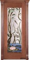 Корсика (черешня натуральная) с бевелс-витражом Журавль и лотос от 42 000 руб.