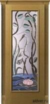 Корсика (дуб натуральный) с бевелс-витражом Журавль и лотос от 35 500 руб.