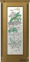 Корсика (дуб натуральный), стекло с художественной аппликацией Остров от 16 500 руб.