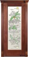 Корсика (красное дерево) с художественным аппликацией Остров