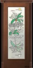Корсика (дуб каштан светлый), стекло с художественной аппликацией от 16 500 руб.