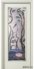 Корсика (патина винтаж) с бевелс-витражом Журавль и лотос от 42 000 руб.