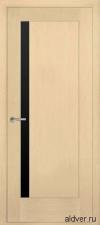 Милано с узким черным стеклом (белый дуб) от 14 500руб.