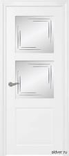 Verona крашенная белая со стеклом Linea
