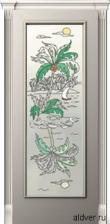 Корсика (патина золотая/бронзовая), стекло с художественной аппликацией остров от 24 500 руб.