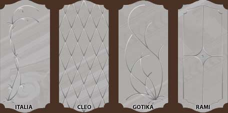 стекло для дверей серии Италия