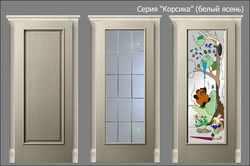 двери Корсика (белый ясень)