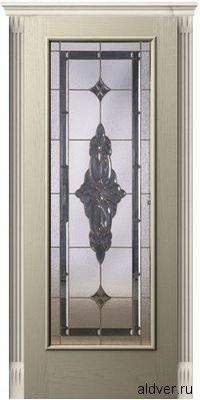 Корсика со стеклом Черное зеркало (белый ясень)