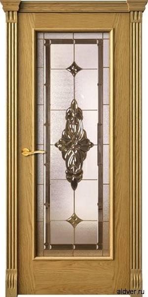 Корсика со стеклом Желтое зеркало (дуб натуральный)