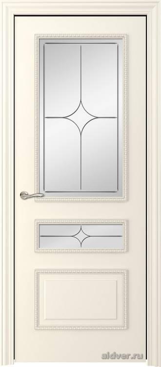 Версаль с резным багетом (эмаль слоновая кость, стекло Italia)