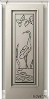Корсика (слоновая кость эмаль), глухая с гравировкой Журавль и Лотос от 17 500 руб.