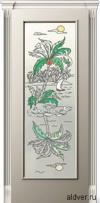 Корсика (слоновая кость эмаль), стекло с художественной аппликацией Остров от 20 000 руб.