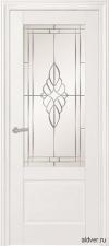 Belluno крашенная белая со стеклом Зеркало