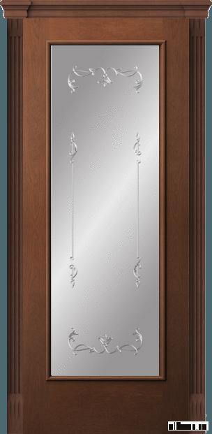 Корсика со стеклом с рисунком (дуб каштан светлый)