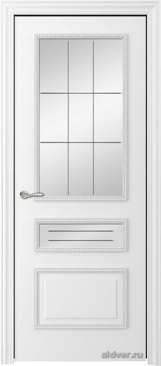 Версаль с резным багетом (эмаль белая, стекло Natali)
